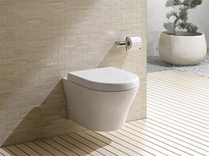 toto introduces the mh wall hung high efficiency toilet. Black Bedroom Furniture Sets. Home Design Ideas