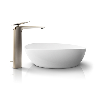 ZA Faucet with Clean Matte Vessel Lavatory
