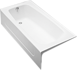 TOTO Enameled Cast Iron Tubs Offer Deep Drop In Design And Slip Resistant  Surface.