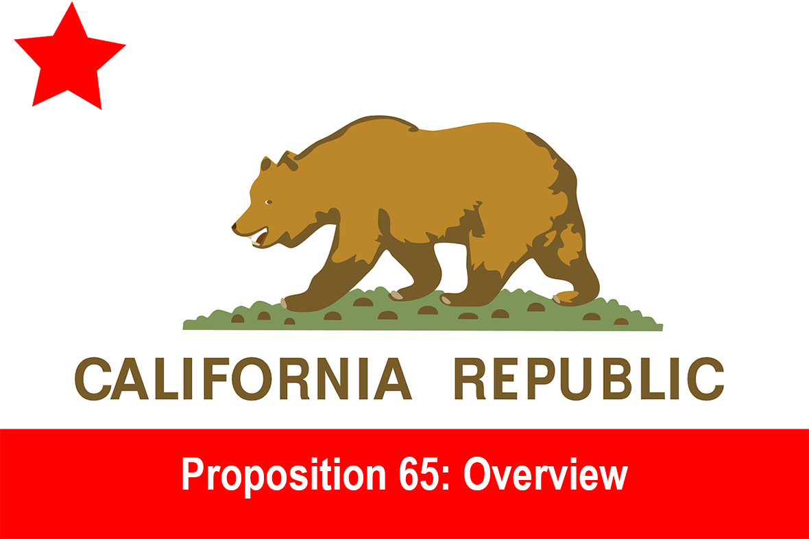 Proposition 65 Graphic