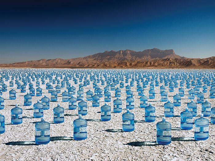 Water Bottles Desert